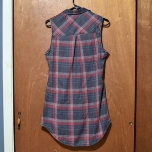 Hot Topic Dresses - Hot Topic Flannel Button Down Tank Dress